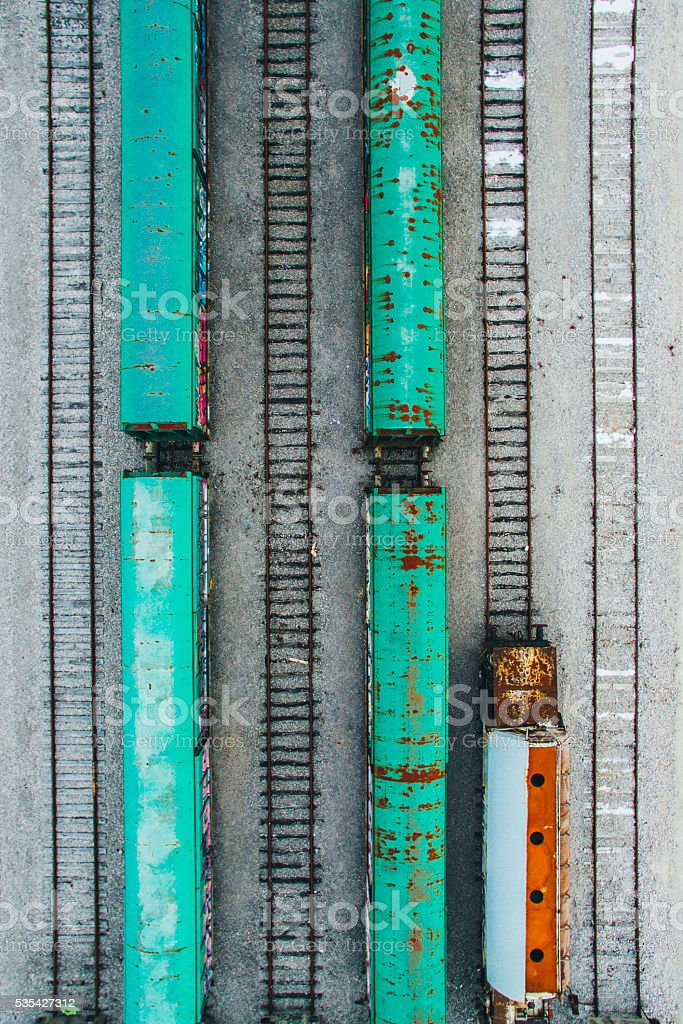 Freight train cars. stock photo