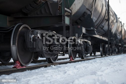 istock Freight train cistern car oil transport delivery. 666599838
