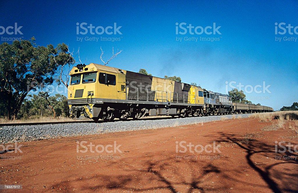 貨物列車でオーストラリア ロイヤリティフリーストックフォト