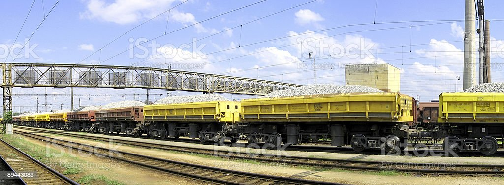 Freight Train in the Station royalty-free stock photo