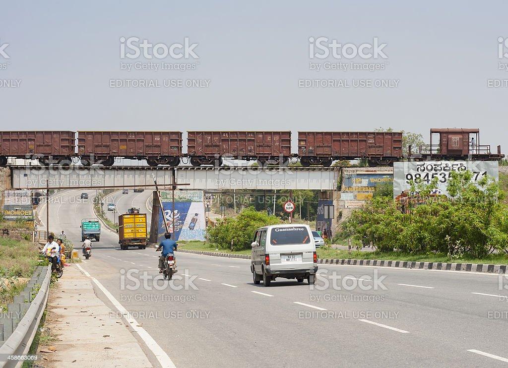 Freight train, India royalty-free stock photo