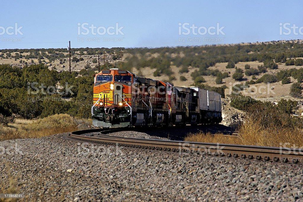 Freight Train royalty-free stock photo