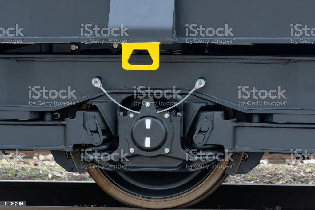 Freight (cargo) train stock photo