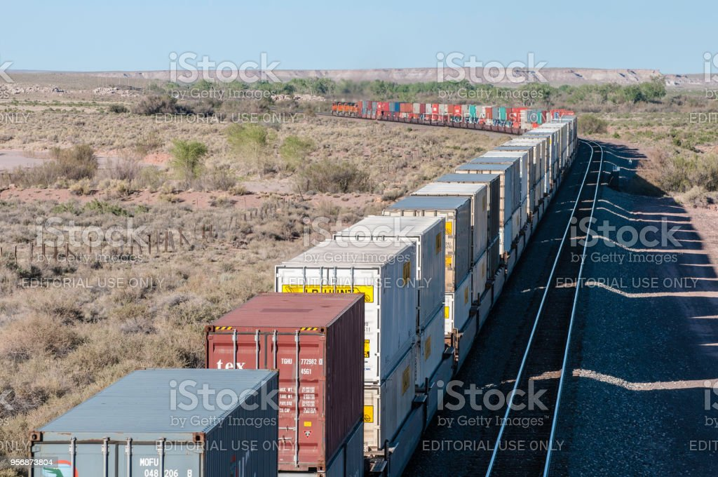Bnsf Freight Train Stock Photo More Pictures Of Burlington