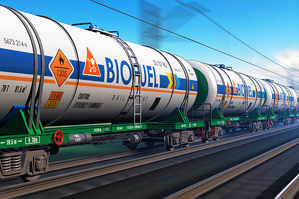 train de marchandises avec biocarburant tankcars - Photo