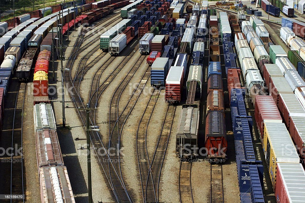 Freight Trains royalty-free stock photo