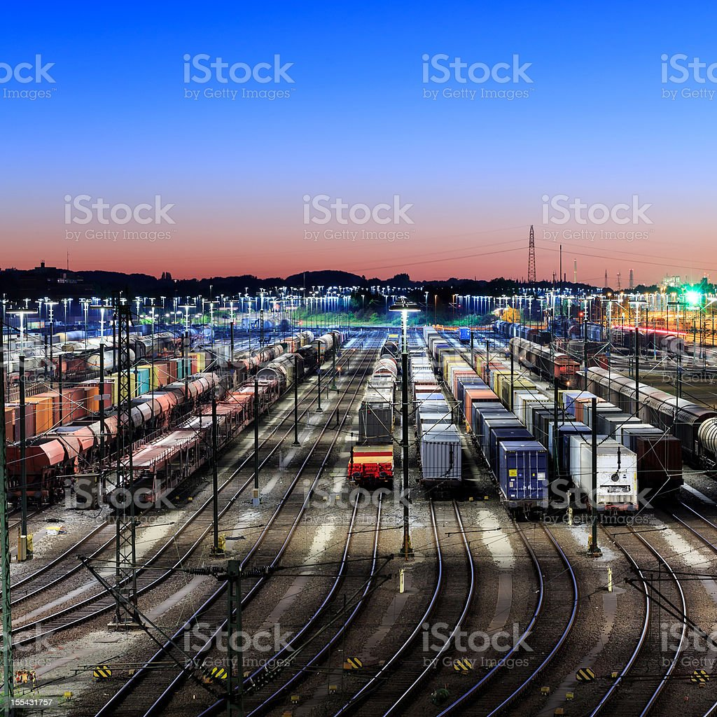 Freight Trains, Waggons and Railways stock photo