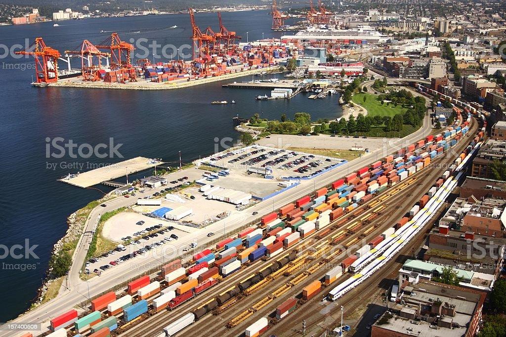 Freight transport stock photo