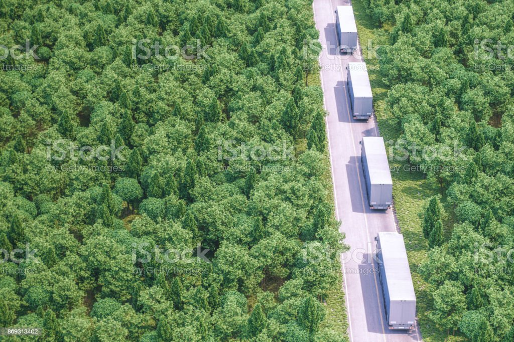 Freight Trucks On The Road stock photo