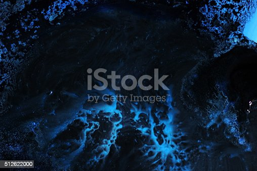 Freightening Blue Cave Stock Photo & More Pictures of Abstract