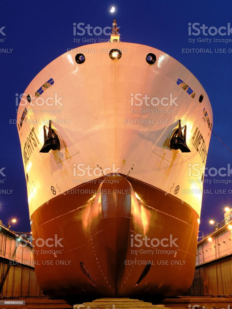 Freighter 'Amethyst' stock photo