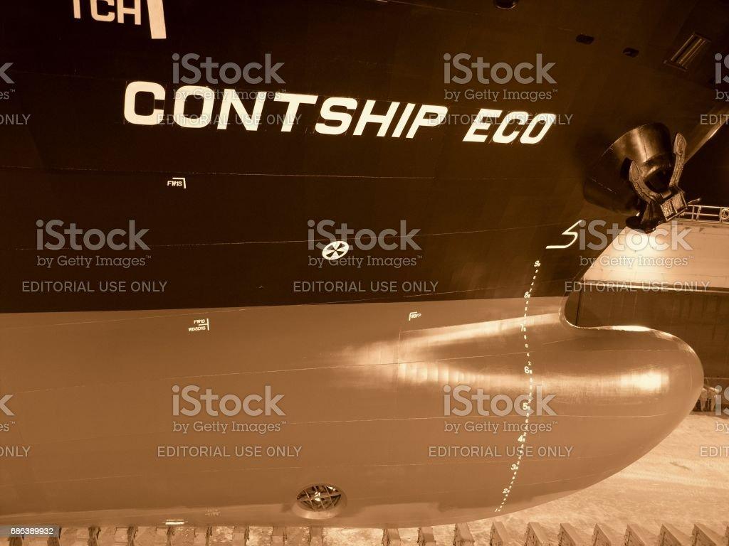 Freighter 'Contship Eco' stock photo