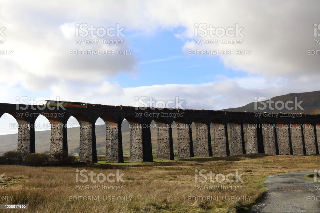 Freightful Viaduct. stock photo