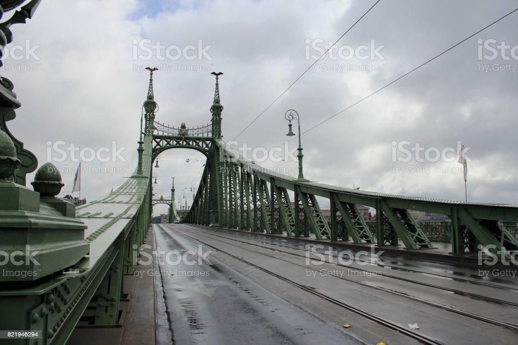 freiheitsbrücke stock photo