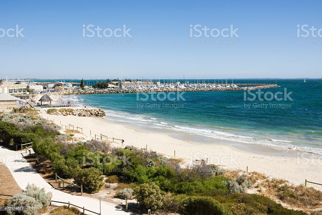 Fremantle beach south of Perth in Western Australia stock photo