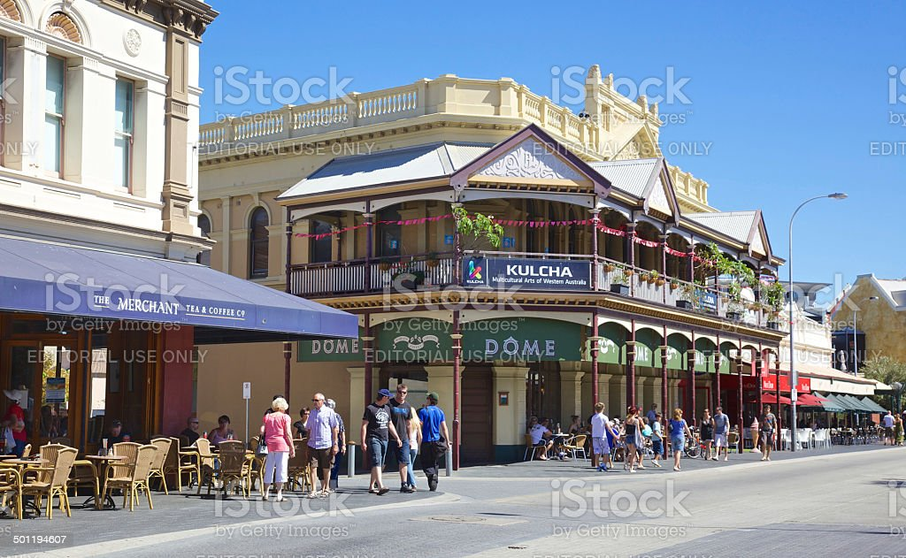 Fremantle Cappuccino Strip stock photo