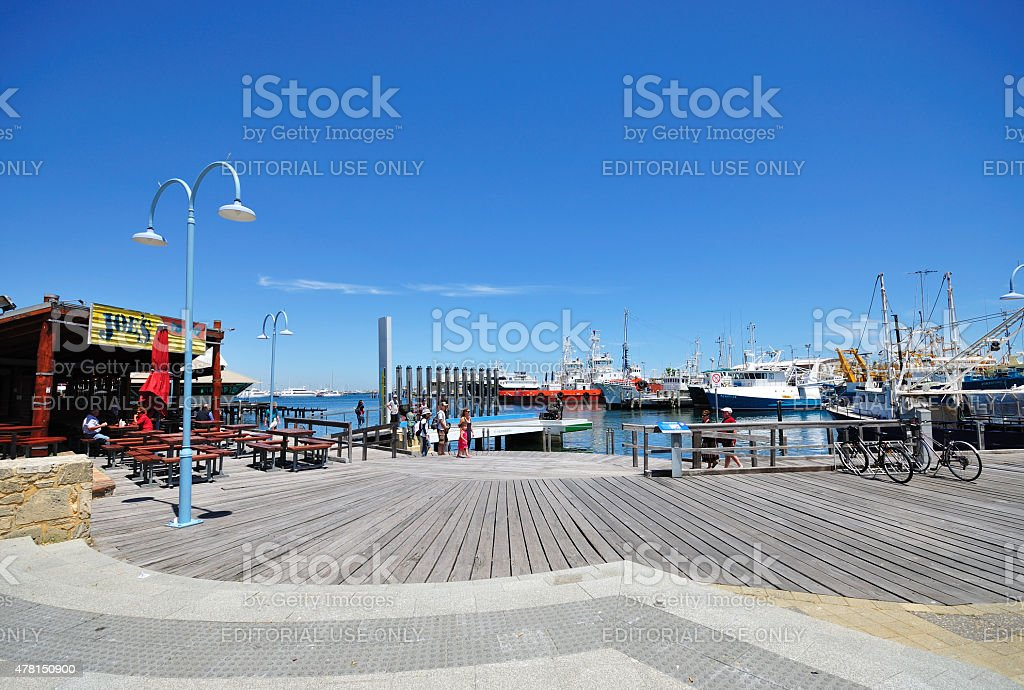 Fremantle Harbor, Perth, Western Australia. stock photo