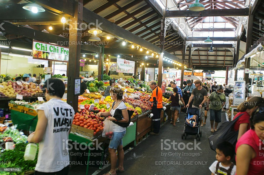 Fremantle Market in Perth, Australia stock photo