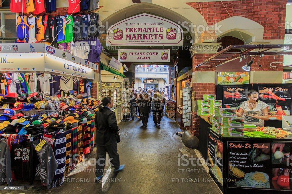 Fremantle Market stock photo