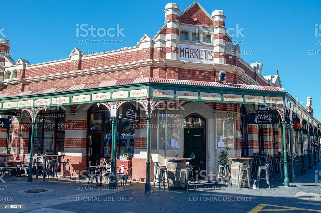 Fremantle Markets and Eatery stock photo