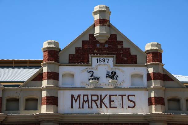 프리맨틀 마켓 인 프리맨틀, 웨스턴 오스트레일리아 - small business saturday 뉴스 사진 이미지