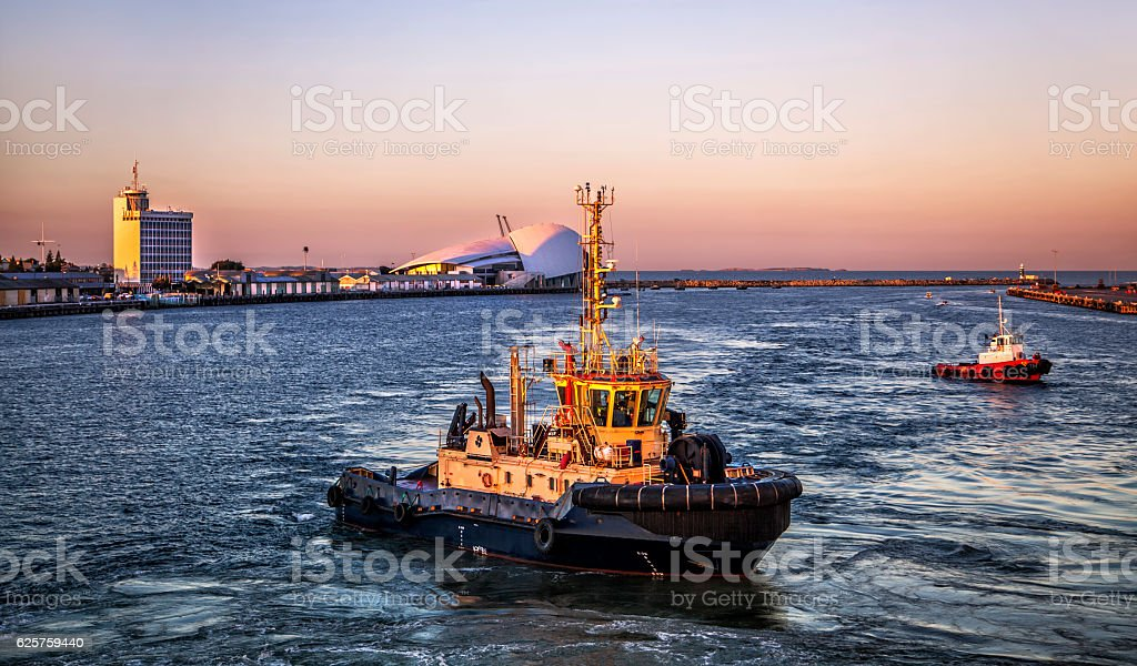 Fremantle Port - Australia stock photo