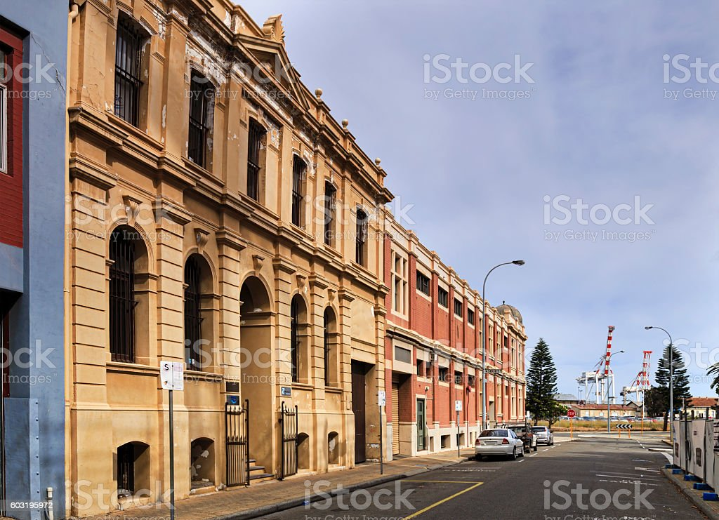 WA Fremantle Street 2 port stock photo