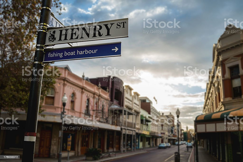 Fremantle Streets in the Morning stock photo