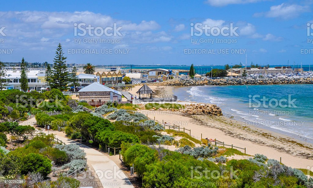 Fremantle, Western Australia: View over Bather's Beach stock photo
