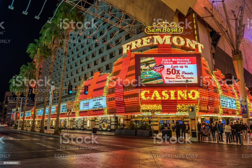 Fremont Hotel And Casino In Las Vegas Stock Photo - Download Image