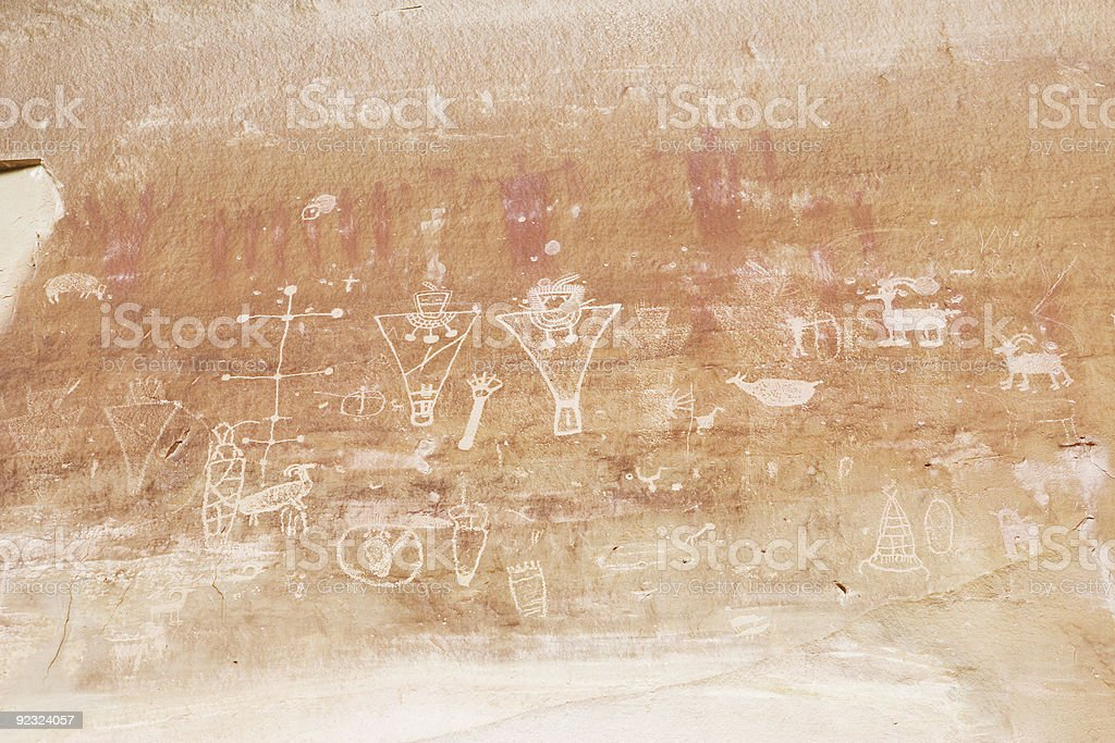 Fremont Rock Art royalty-free stock photo