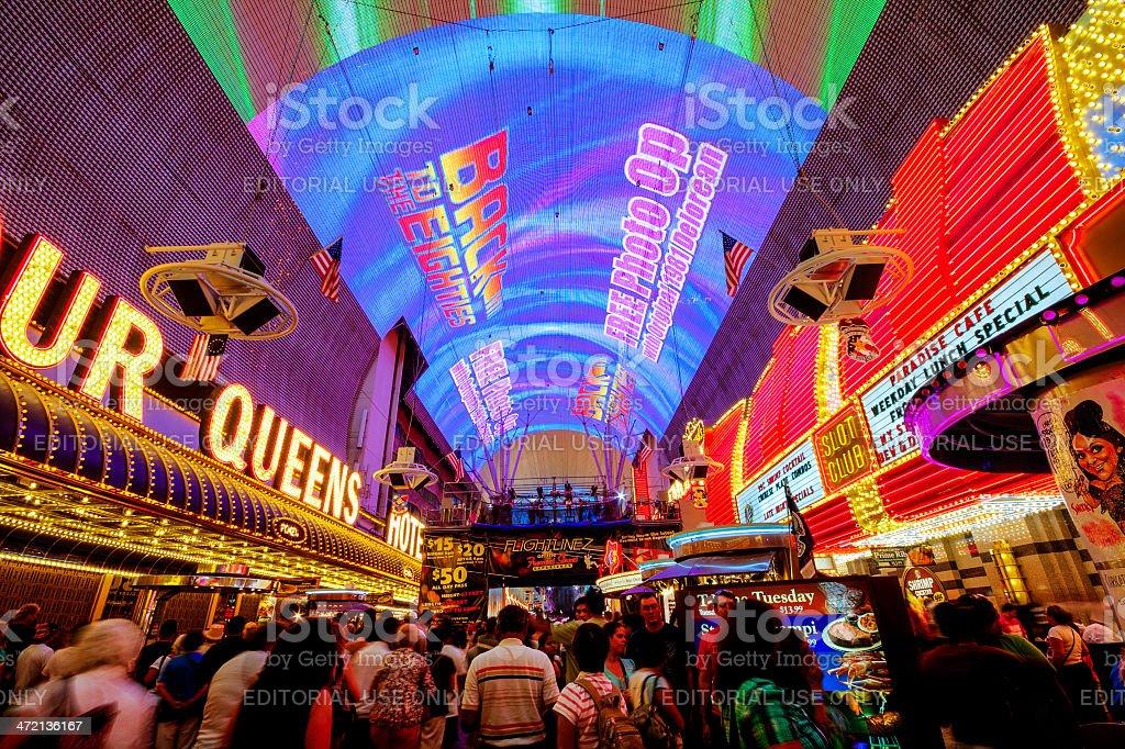 Fremont street experience in Las Vegas stock photo