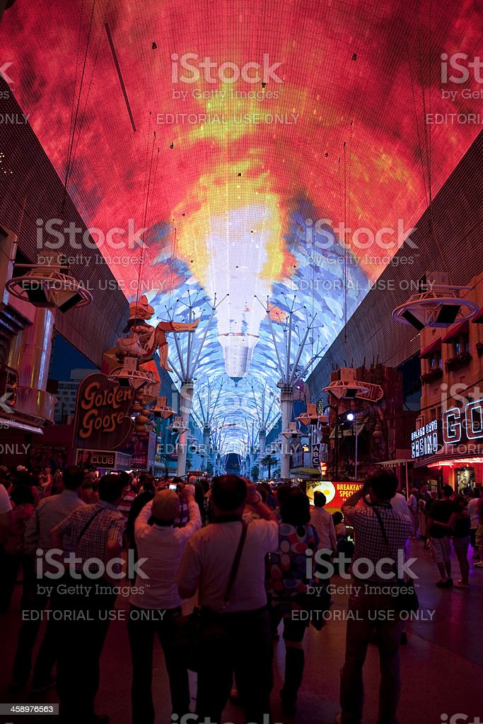 Fremont Street Experience royalty-free stock photo