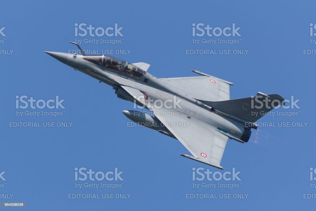 Een Franse luchtmacht Dassault Rafale tijdens de oefening Frisian Flag foto