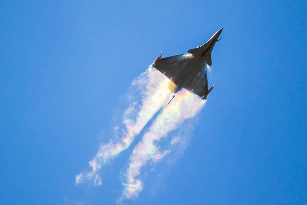 French Air Force Dassault Rafale fighter jet plane stock photo