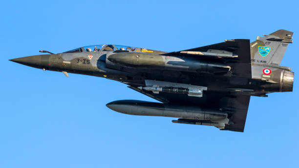 French Air Force Mirage 2000 fighter jet stock photo