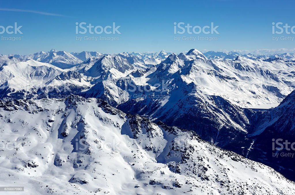 French Alpes stock photo