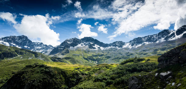 French Alps in the Summer stock photo