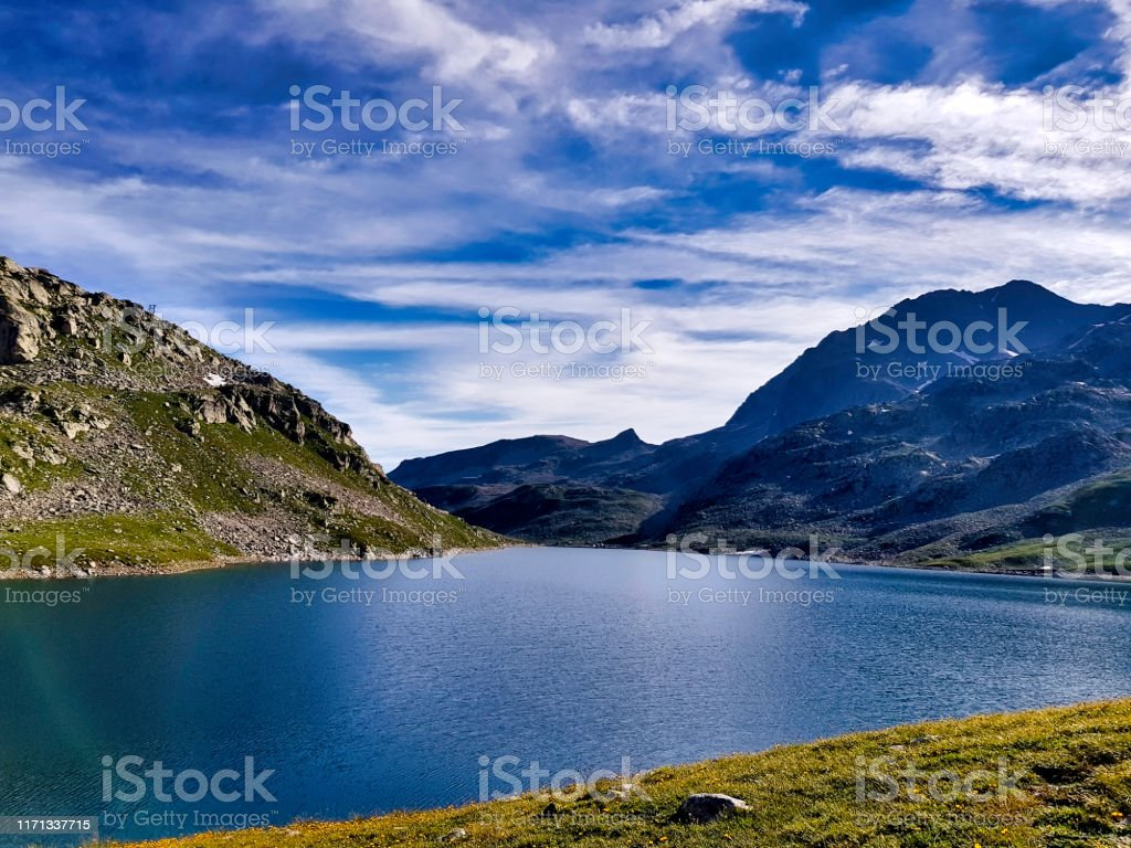 French alps - Lake of Cos, Mountain of Seven Laux, Isère - Royalty-free Beauty Stock Photo