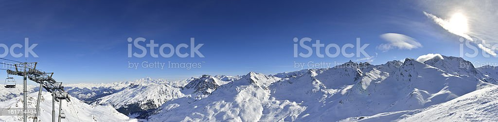 French Alps Panorama XXXL stock photo