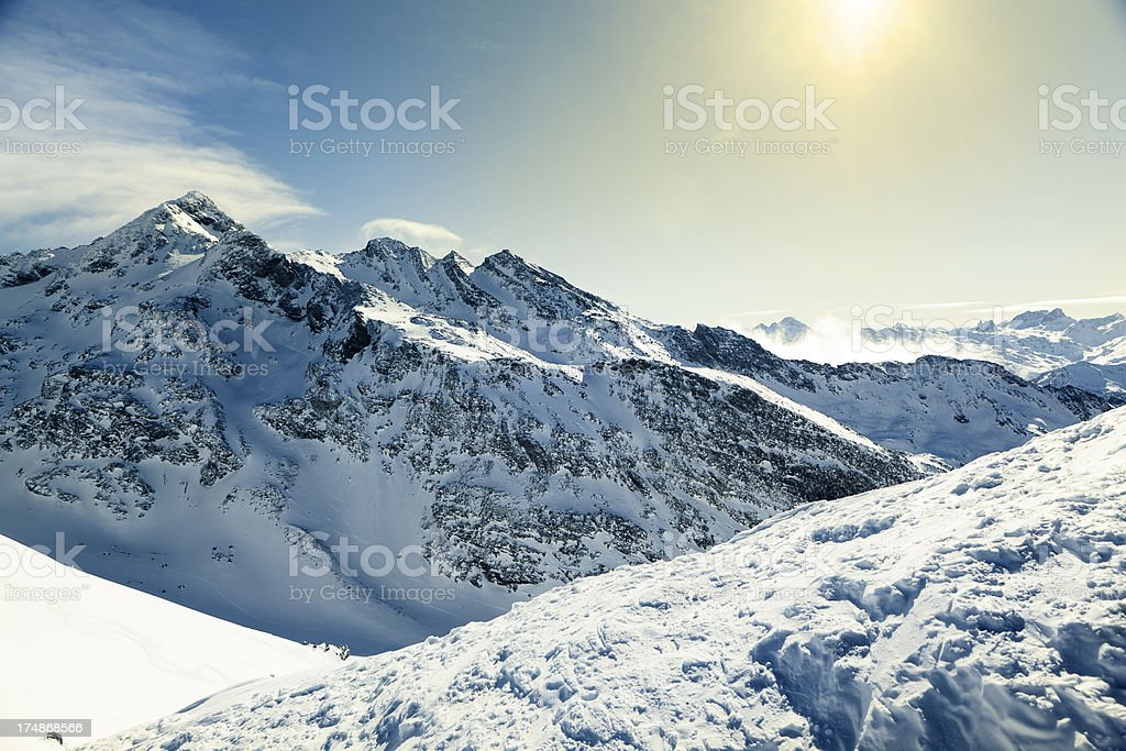 French Alps royalty-free stock photo