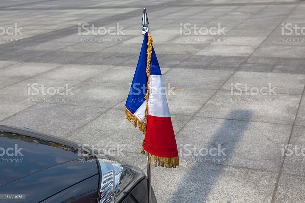 French Ambassador car stock photo