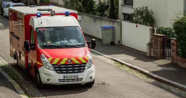 Ambulance Français vue d'en haut - Photo