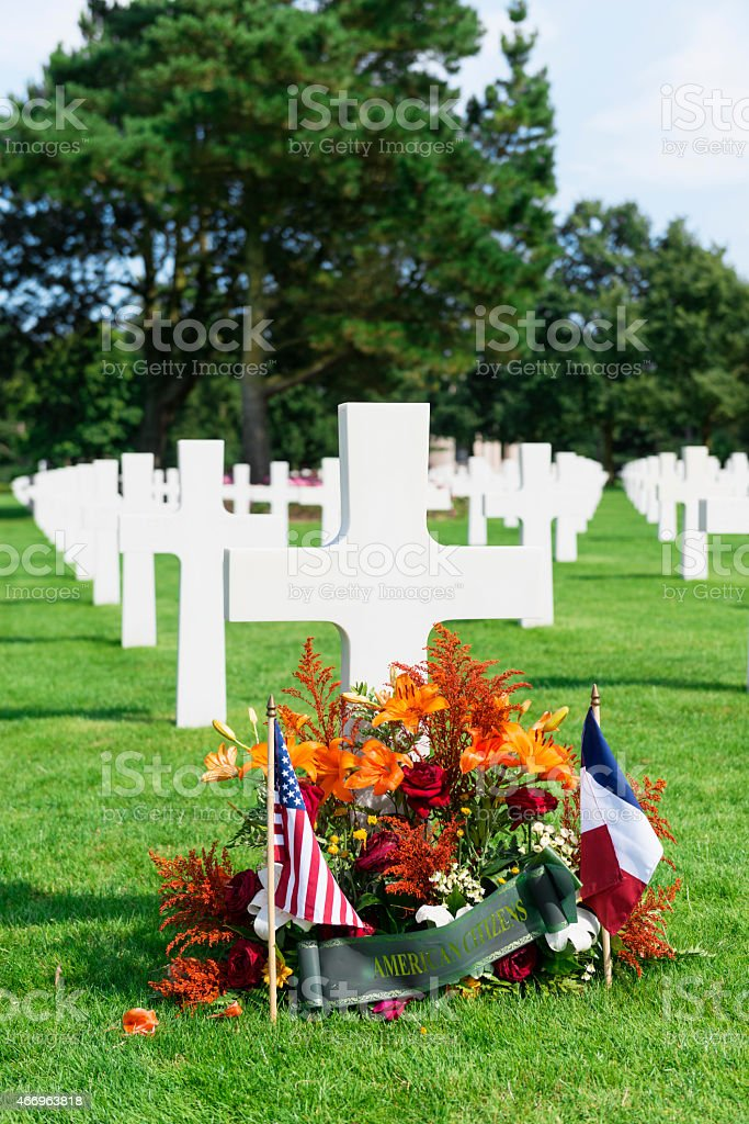 French American friendship Normandy stock photo