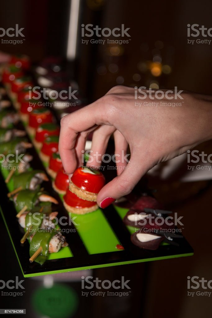 French an assortment of petits fours stock photo