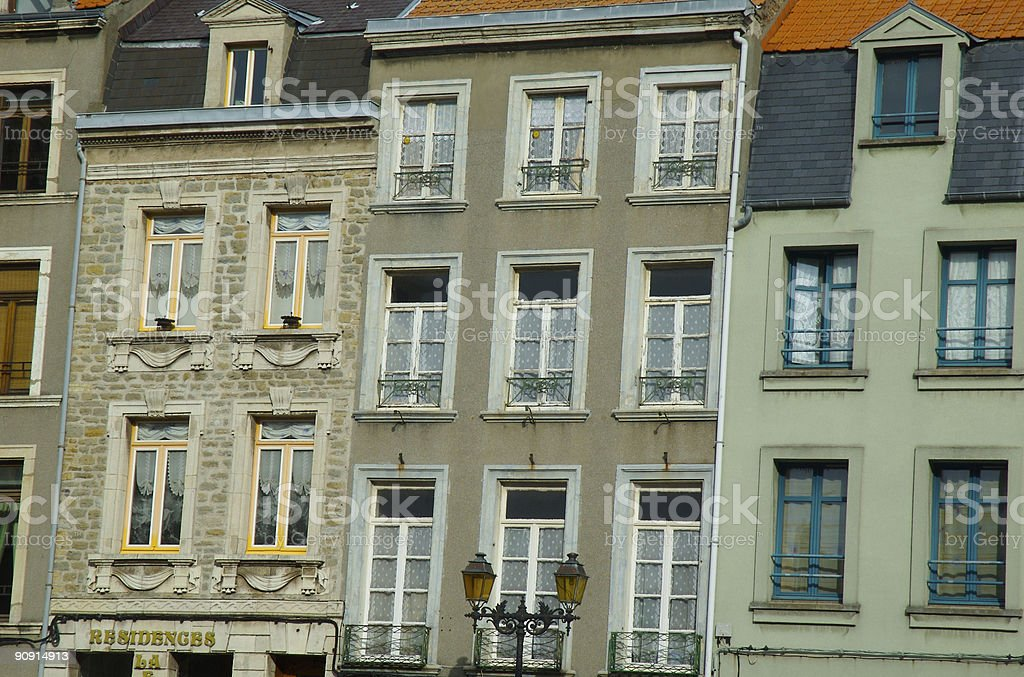 French appartments in Calais stock photo