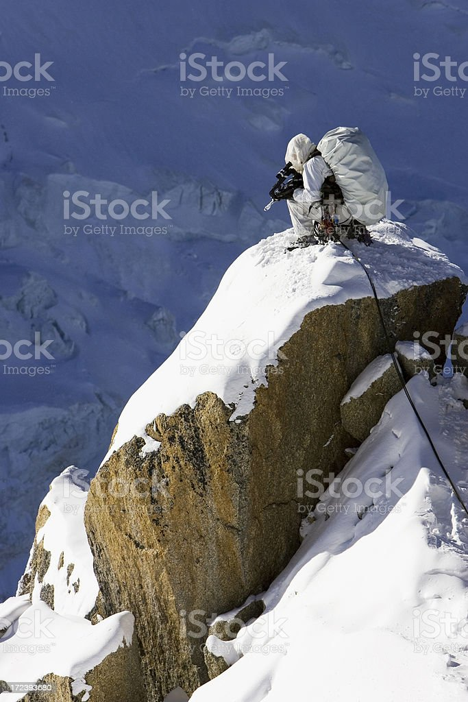 French army mountain specialists in Alps 2 royalty-free stock photo