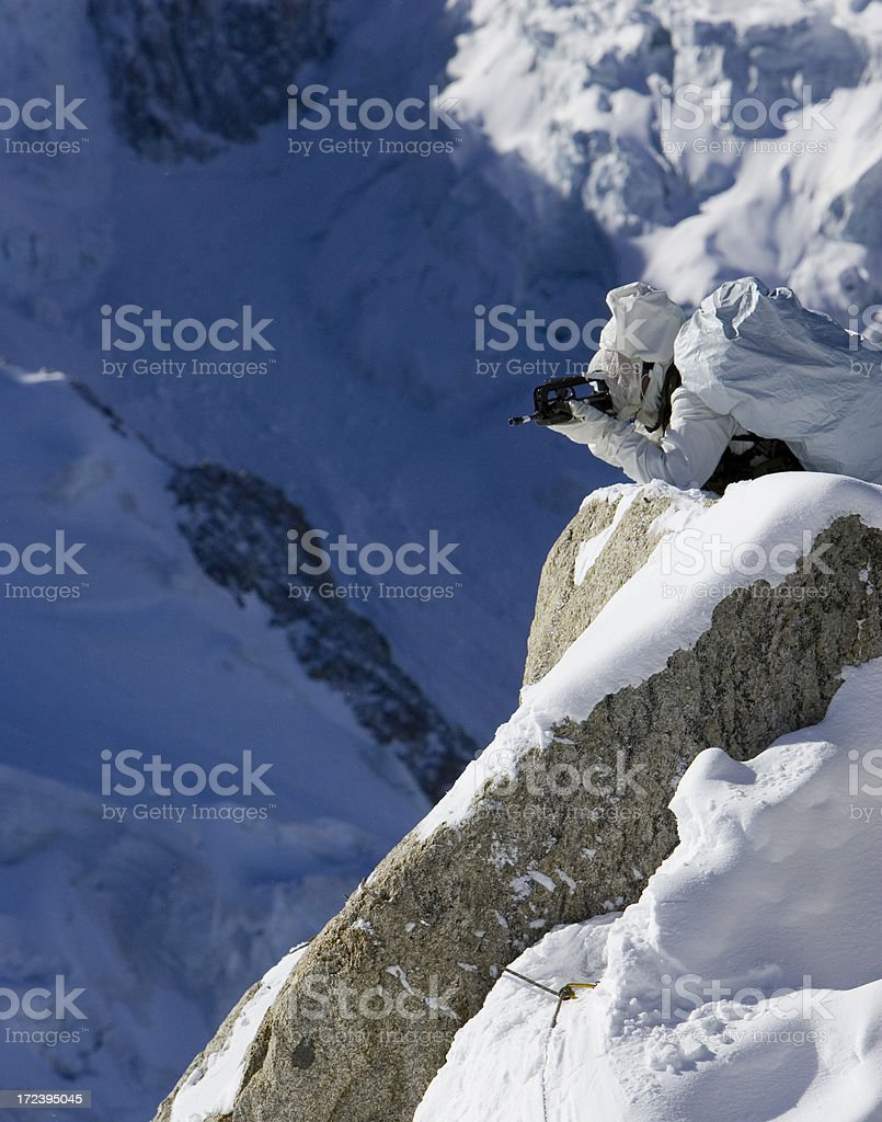 French army mountain specialists in Alps 4 stock photo