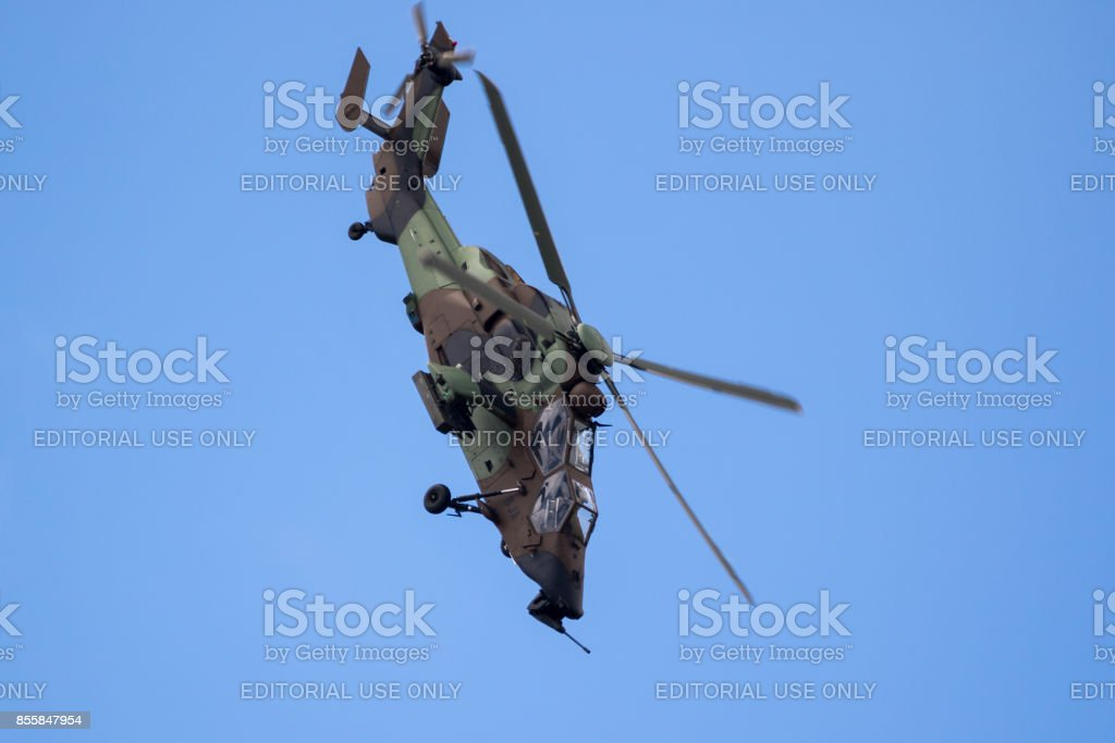 French Army Tiger Attack helicopter stock photo