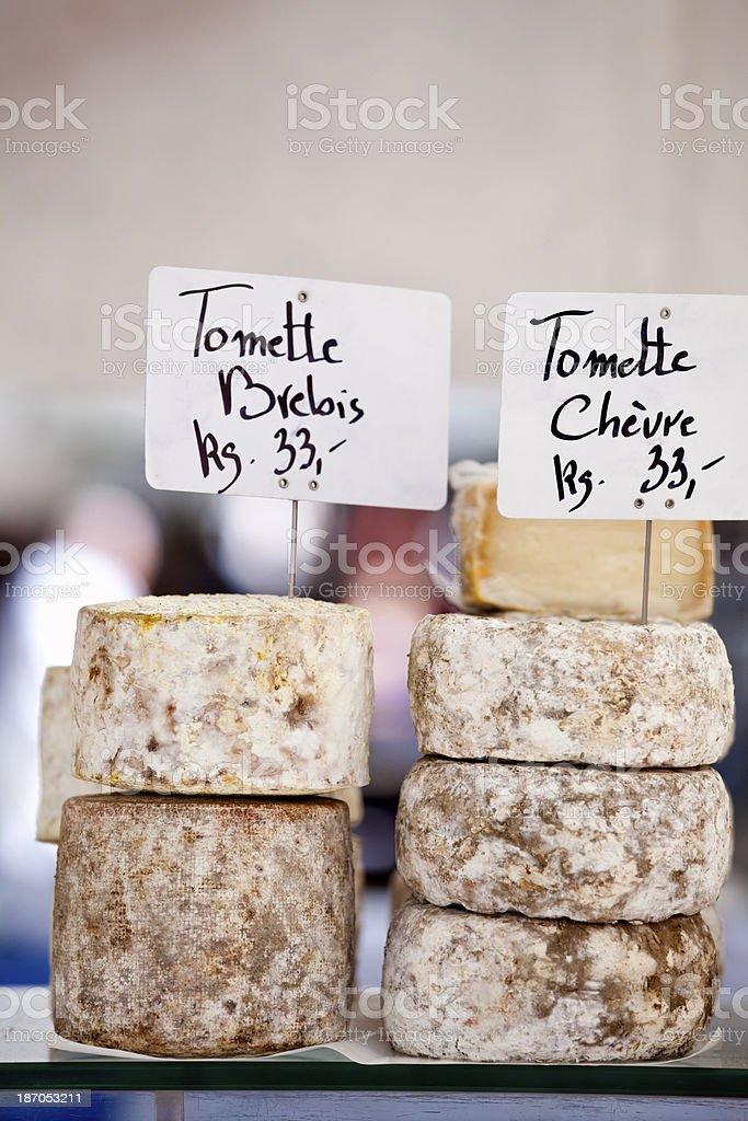French Artisan Sheep & Goat Cheeses stock photo